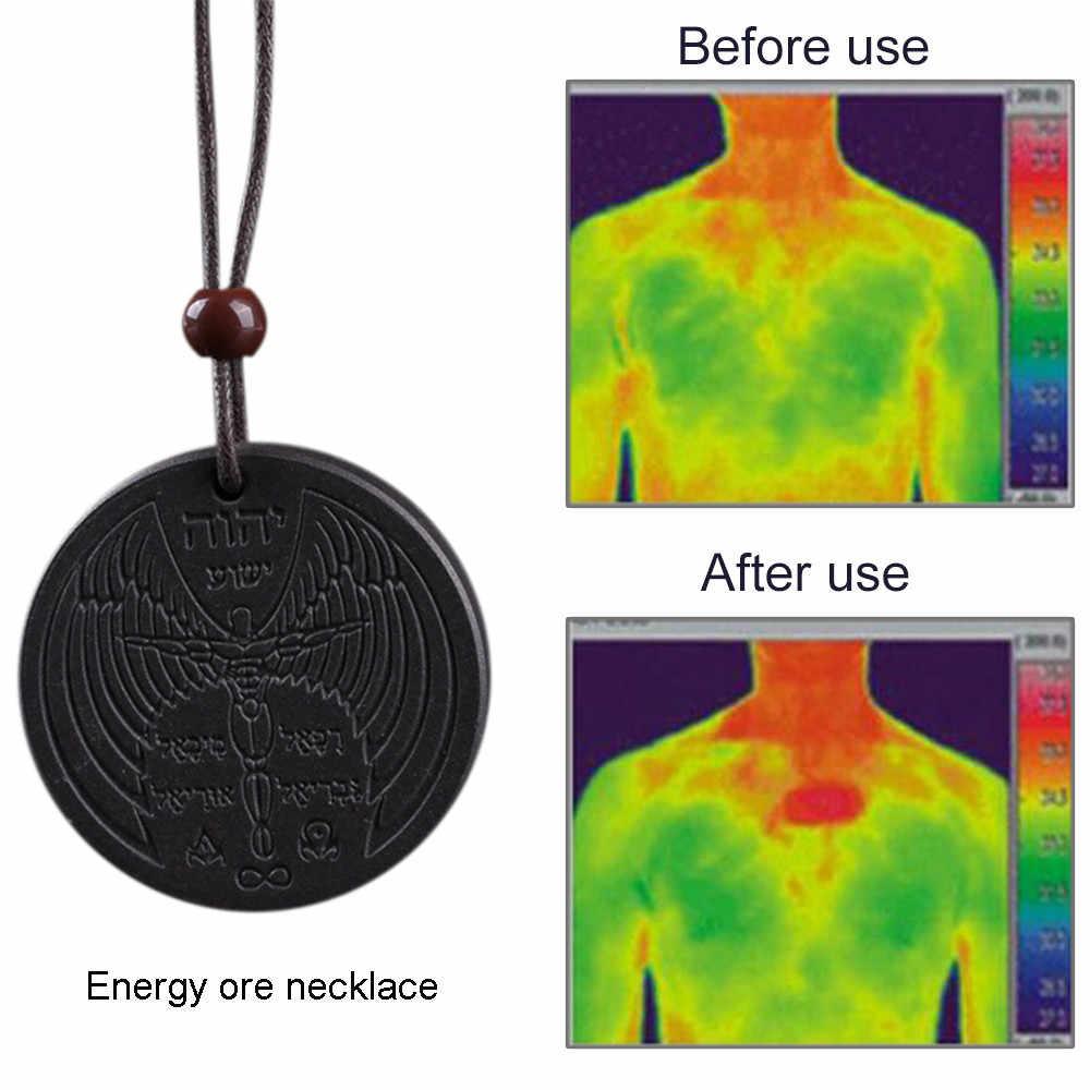 Szczegóły na temat potężnej skalarnej bioenergetyczna wisiorek quantum magnetyczna moc zdrowotna Rhinestone Choker naszyjnik Collier Femme