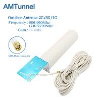 4 Gam antenna SMA nối LTE ăng ten bên ngoài antennna với 10 m cáp cho 3 Gam 4 Gam tín hiệu boosterrepeater wifi router 4 gam modem