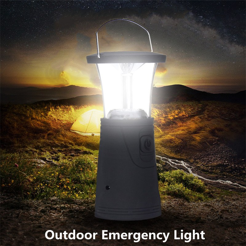 Hand Crank Portable Lantern 6 LED Solar Powered Rechargeable LED Flashlight Camping Light Tent Light Torch Lantern Lamp