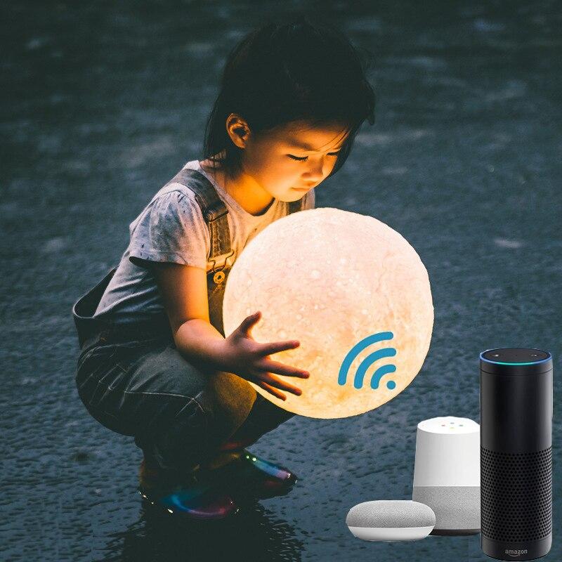Boaz Smart Wifi Moonlight Remote Control Moonlight Voice Control Dimmable RGBW Amazon Alexa Echo Google Home