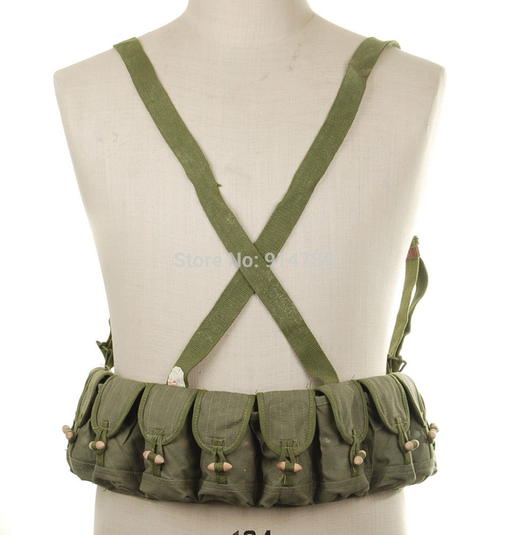 SURPLUS CHINESE MILITARY SKS TYPE 56 SEMI AMMO CHEST RIG BANDOLIER POUCH-31165