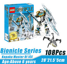 BionicleMask of Light XSZ 708-2 Children's Kopaka Master Of ICE Bionicle Building Block Minifigure Compatible with Legoe Toys