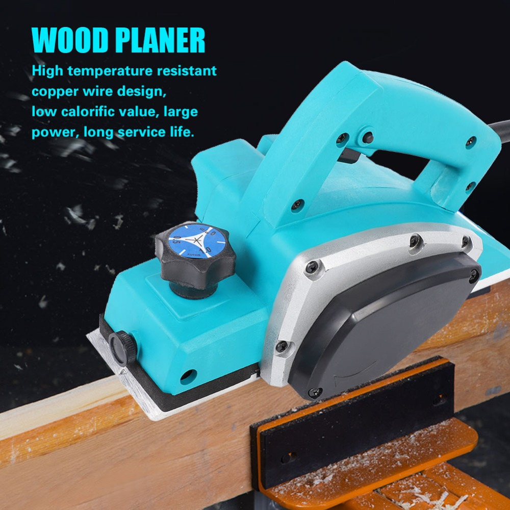 Multifunctional Wood Planer HandHeld Copper Wire Wood Electric Planer Woodworking Tool Household Power Tool Electric Wood