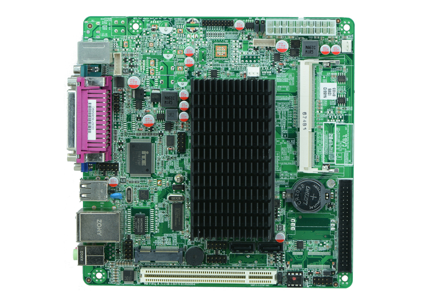 Mini Itx industrial motherboard Intel Atom N455 CPU Fanless POS motherboard купить