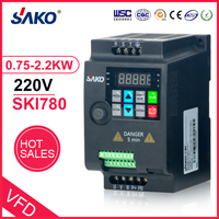 SAKO SKI780 220V 0.75KW/1.5KW/2.2KW 1HP Mini VFD Variable Frequency Drive Converter for Motor Speed Control Frequency Inverter