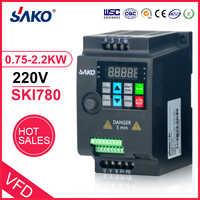 SAKO SKI780 220V 0.75KW/1.5KW/2.2KW 1HP Mini VFD Variable Frequenz Umrichter für Motor Speed Control frequenz Inverter