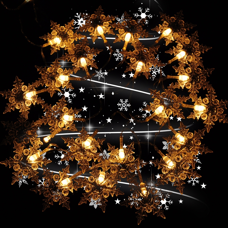 9 Colors 10m 80 Snowflake Battery LED Christmas Lights Navidad Natal String Fairy Wedding Decoration Lights Luminaria Casamento