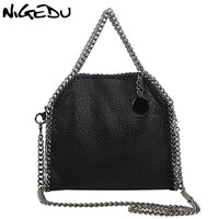 NIGEDU Design Women Handbag Small Bag Female Shoulder Bag Chain Soft Pu Leather Crossbody Messenger Bags Women Totes Clutches
