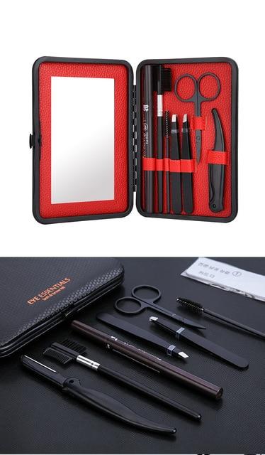 8 in 1 man Eyebrow Trimming Kit ,   Portable Tweezer and Scissor Set for Eyebrow Grooming Eyebrow Care Kit for Men Women 3