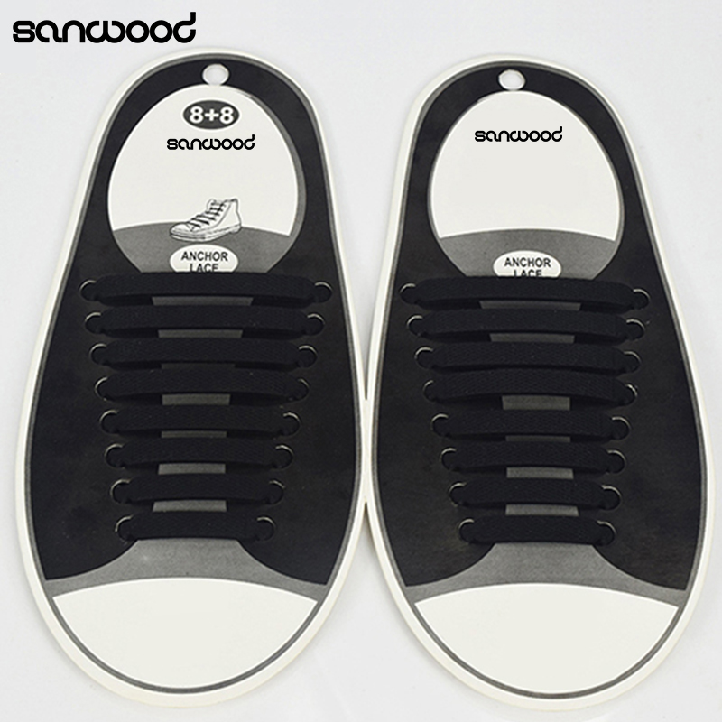 16 шт./компл. Для женщин Для мужчин спортивные Шнурки эластичный силикон все Спортивная обувь Fit ремень