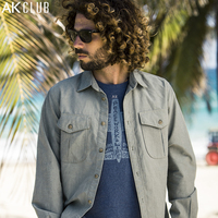 Free Shipping Ak Men S Clothing Jungle Oxford Silk Stonewashed Fabric Cloth 100 Cotton Casual Male