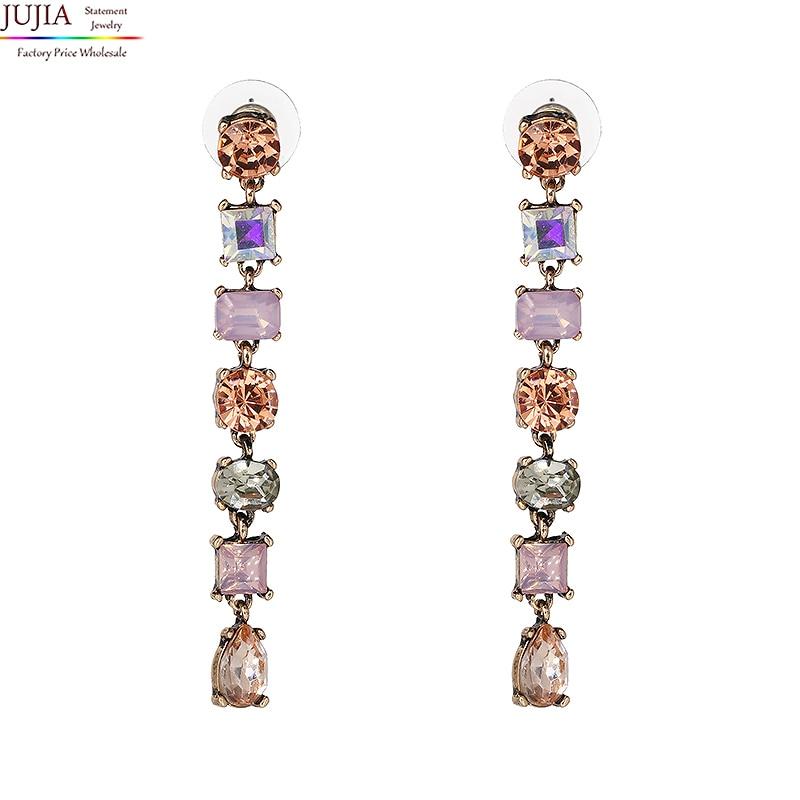 Dvije boje nova kvalitetna modna izjava kristalna duga naušnica - Modni nakit