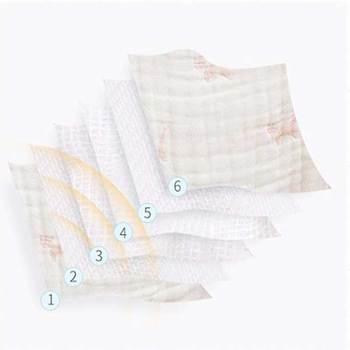 коврик для ванной   6-слойное детское одеяло для новорожденных из плиссированной газовой ткани, хлопковое муслиновое Пеленальное Одеяло для младенцев, детское...