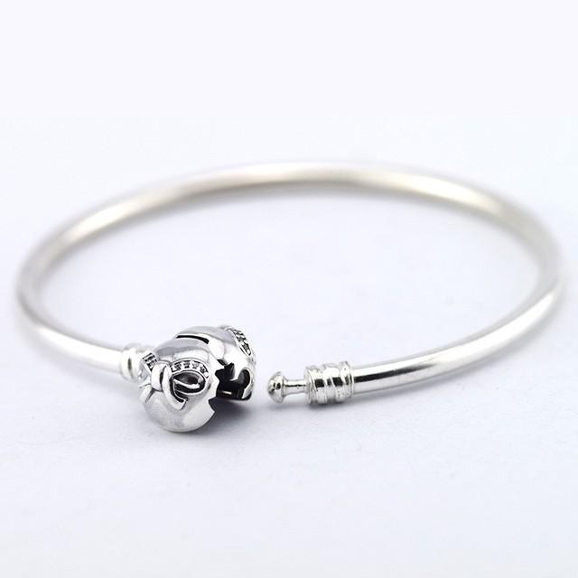 NOVO 100% 925 Sterling Silver Pulseiras com Cubic Zirconia Pulseira DIY jóias para As Mulheres por atacado