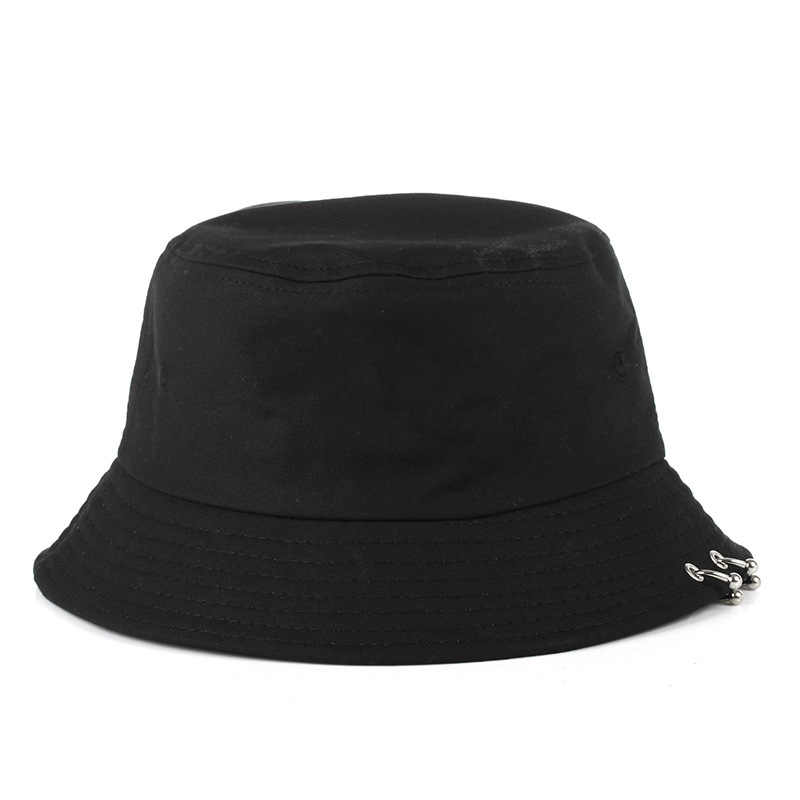 Ring Harajuku Bucket Hat Men Women k pop bob Outdoor Beach sun hat black yellow fashion panama Fishing Fisherman Hat 2019
