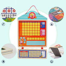 Купить с кэшбэком Baby Good habit board Responsibility Chart Self-discipline table Drawing Board Wooden Drawing toy Educational baby toys for Kids