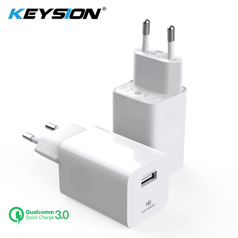 KEYSION Usb-Charger QC3.0 Huawei IPhone Xiaomi 12v Travel 24W For 2A Wall