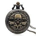 Новое Прибытие 2-Й ПОПРАВКИ Пушки Дизайн Карманные Часы Мужчины Vintage Кулон Часы Горячей P987