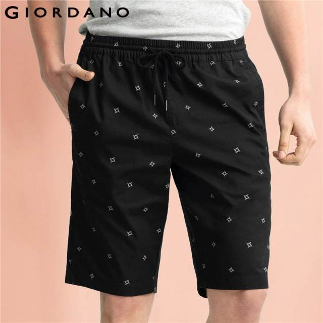 41d343efcd Giordano Men Bermuda Shorts 2017 Casual Summer Bermudas Printed Bermuda  Cotton Moletom Masculino Brand Clothing Summer Shorts