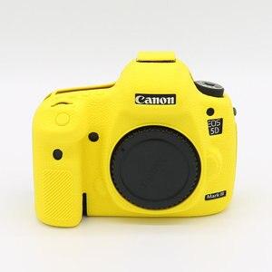 Image 5 - Silikonowy pancerz pokrywa Protector antypoślizgowe tekstury projektu dla Canon EOS 5D Mark III 3 5D3 /5Ds R/5Ds aparat tylko