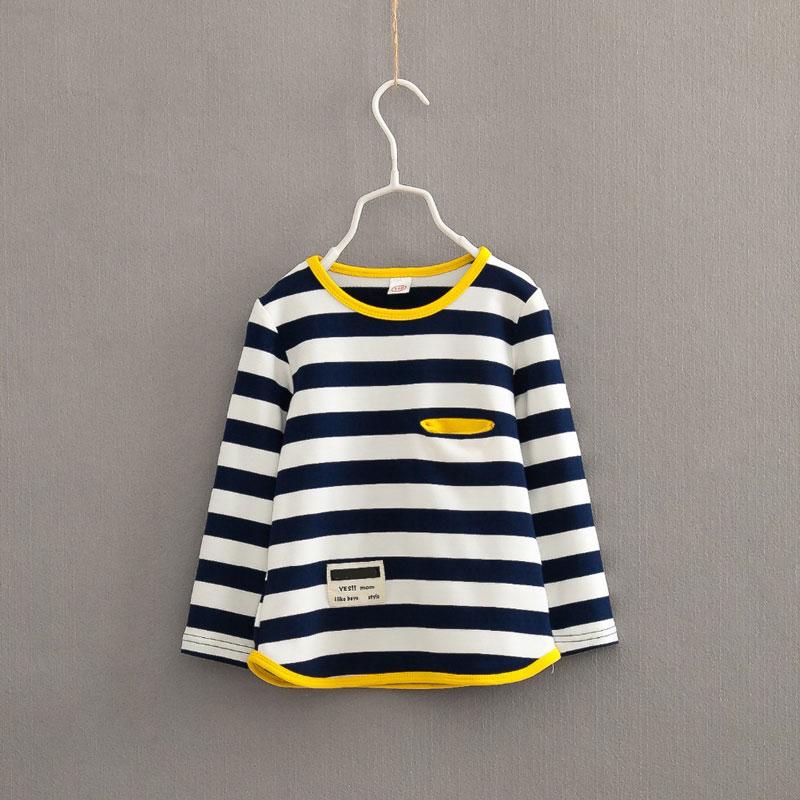 V-TREE Spring autumn long sleeve t-shirt for girls stripe boys shirts children tops children's sweatshirts baby clothing tees