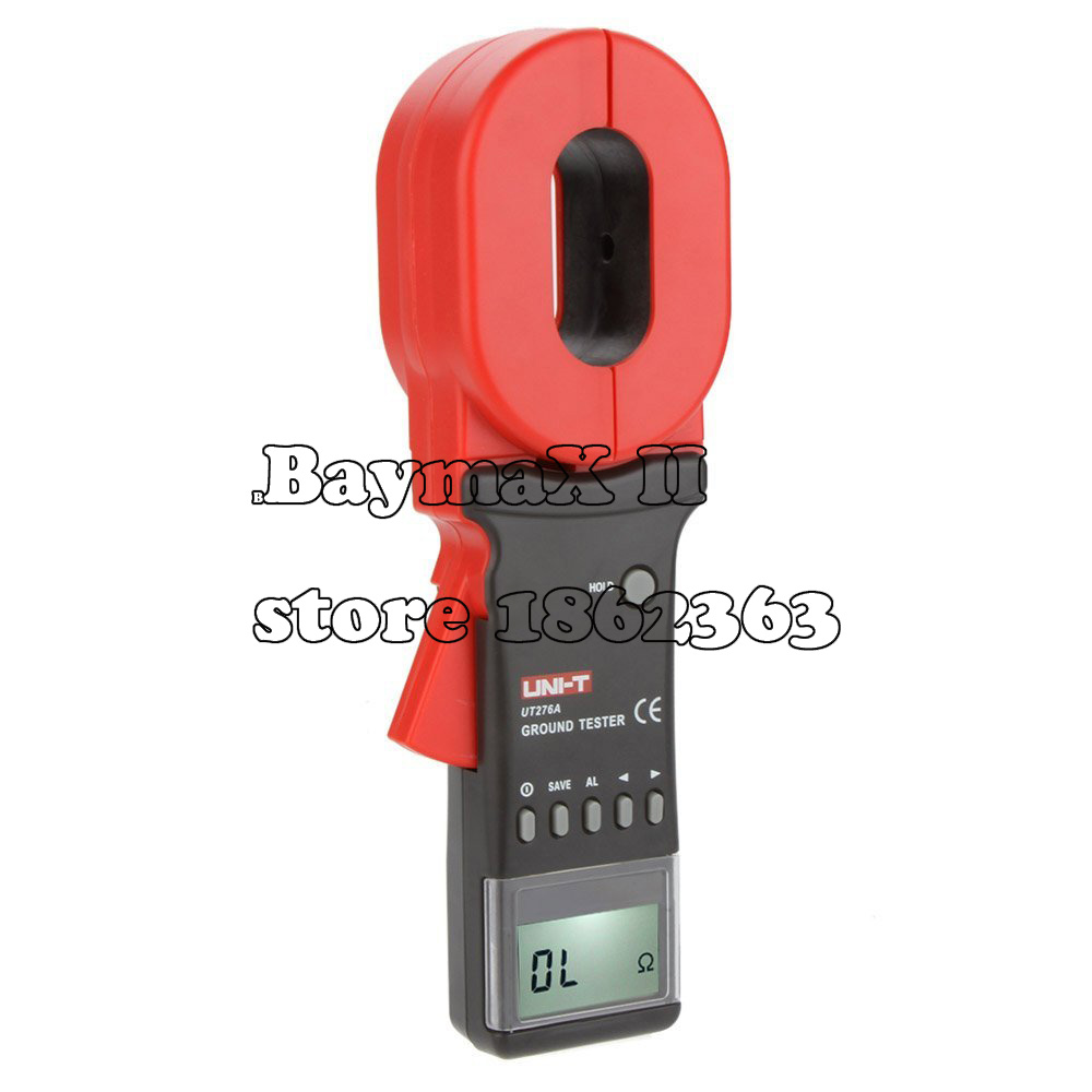 UNI T UT276A Auto Range Digital Clamp Earth Ground Resistance Testers Megohmmeter Clamp Meters Ohmmeter w/ RS 232 Interface
