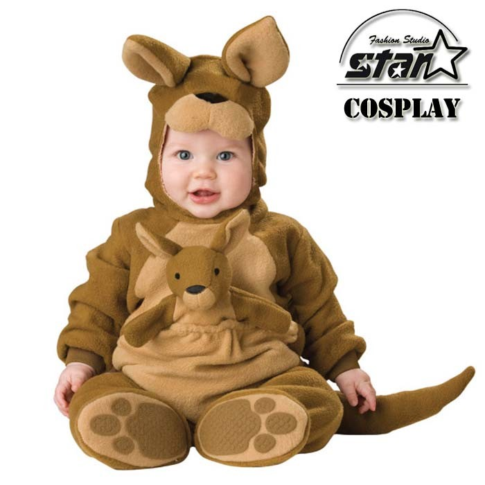 New Arrival Jumpsuit Christmas Halloween Animal Cosplay Kangaroo Penguins Leotard Romper Infant Costume Baby Costume Baby Onesie цены онлайн