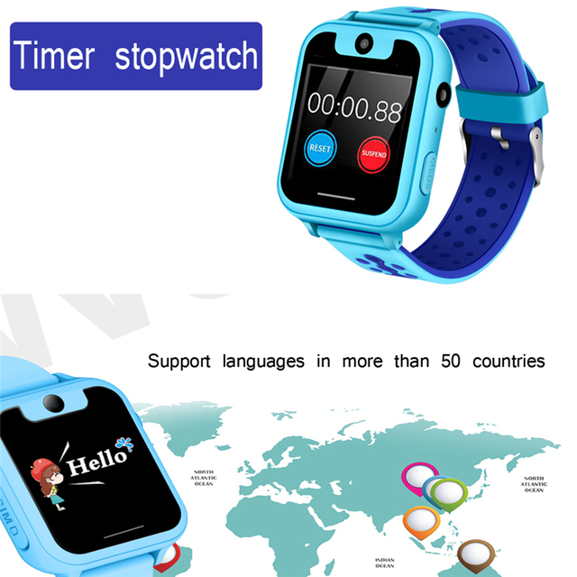 2018 New Children's Smart Watch Caring for Child Safety Remote Positioning SOS E