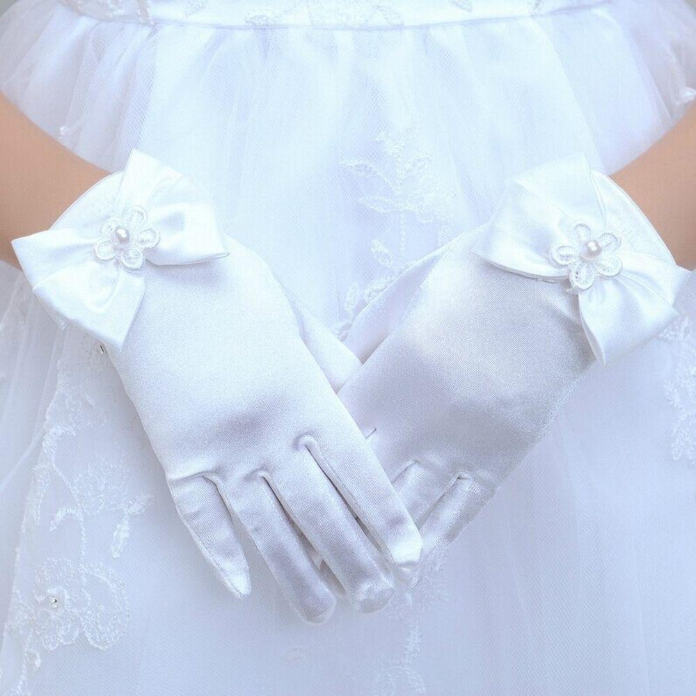 Gloves Princess Gloves Dress Gloves Bowknot Gloves Brief Paragraph Lady Gloves