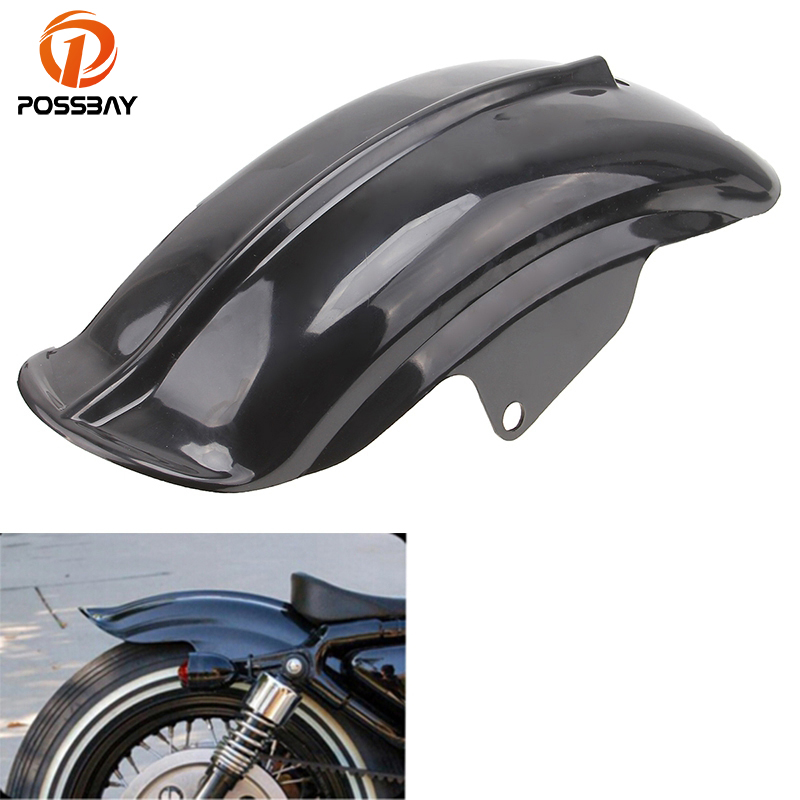 POSSBAY Motorcycle Rear Mudguard Fender Cafe Racer Superior For Harley Sportster 833 1200 XL Bobber Chopper 1994-2003 C10 ATV black silver motorcycle superior rear mudguard fender accessory for 1994 2003 harley sportster 883 883r 1200