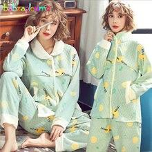 d5b9cf68b 2 piezas Otoño Invierno ropa de maternidad conjunto de ropa de dormir para  lactancia ropa de dormir embarazo mujeres pijamas de .