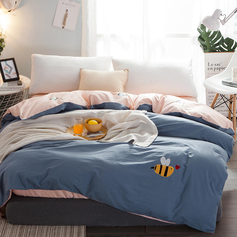 High quality very comfortable soft 100% Cotton Duvet Cover Washed Cotton 1pcs Quilt Cover 160x210/200x230/220x240cm