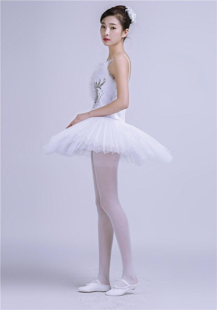 baabba2e4be9 Gymnastic Leotard Ballet Tutu Dress Dress Girls White Adulto Swan ...
