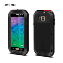 LOVE MEI Life Waterproof Metal Case For Samsung Galaxy Alpha G850 G850F G8508S Powerful Shockproof Aluminum Cover +Gorilla Glass