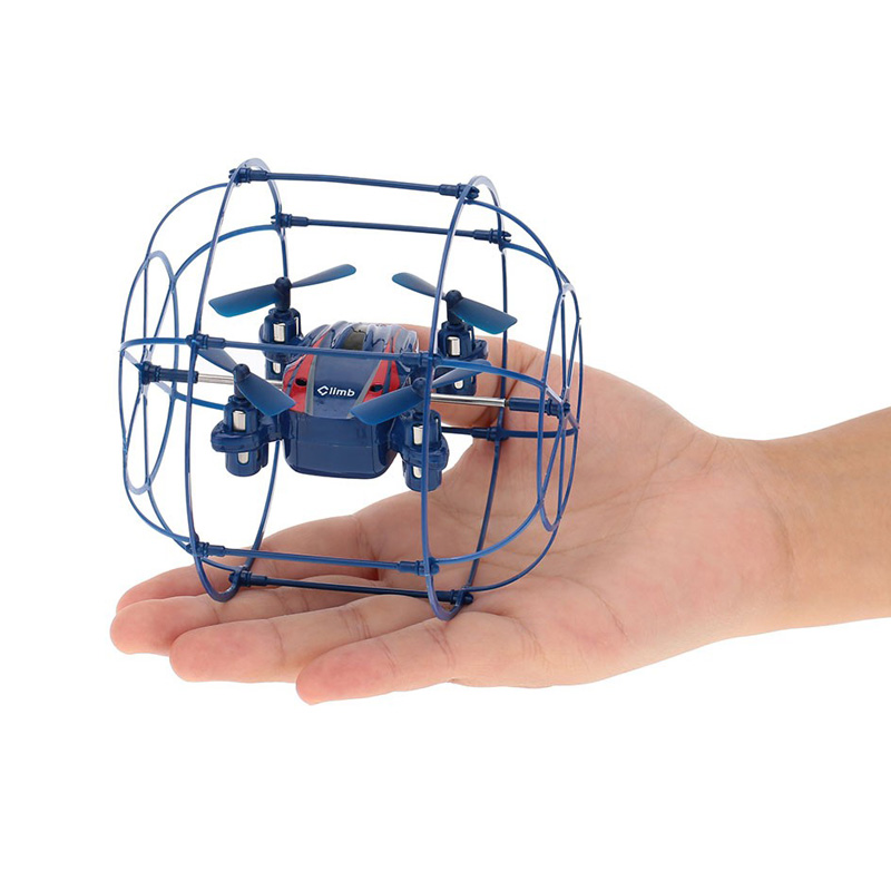 2.4GHZ 6-Axis Gyro RTF 4CH RC Quadcopter Remote Control Mini Drone With Auto-return Headless Mode and Wall Climbing