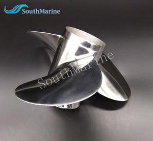 Image 3 - Hélice de aço inoxidável 11 1/8x13 g para popa yamaha 40hp 50hp 11 1/8x13 g