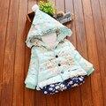 Suave de Algodón Acolchado Chaqueta de Otoño Chaqueta de Abrigo Infantil Giacche Neonati Moda Cardigan Niña Niños Chaqueta Bolero 70D040