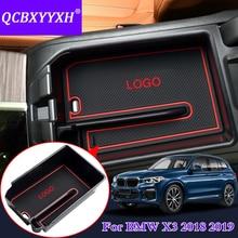 QCBXYYXH Автомобиль Стайлинг для BMW X3 2018-2019 автомобиль центральной консоли подлокотник коробка для хранения охватывает аксессуары для украшения интерьера