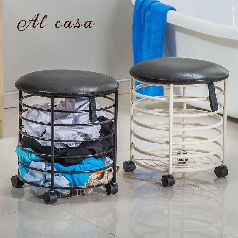 NEW free shipping shoe stool buck basket,toy storage basket Creative furniture цена 2017