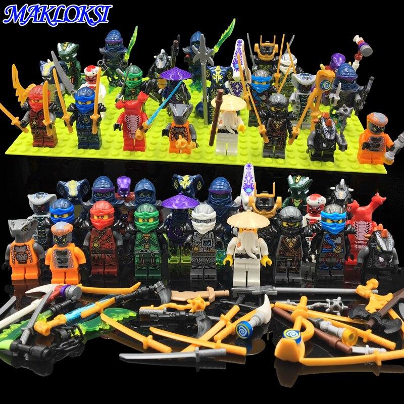 24pcs lot Ninja Model Building font b Block b font Classic Action figures font b toys