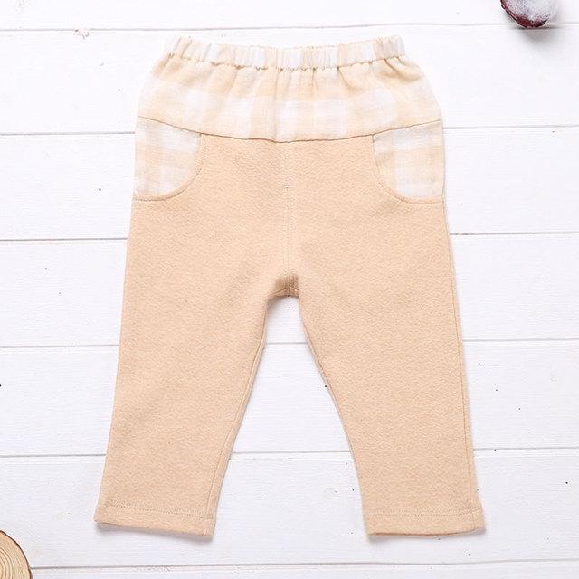 2017 Recién Nacidos Del Bebé Pantalones Sping Del Otoño Muchachas de Los Pantalones de Cintura Elástica de Algodón Orgánico Pantalones Leggings Caliente Suave de Los Niños