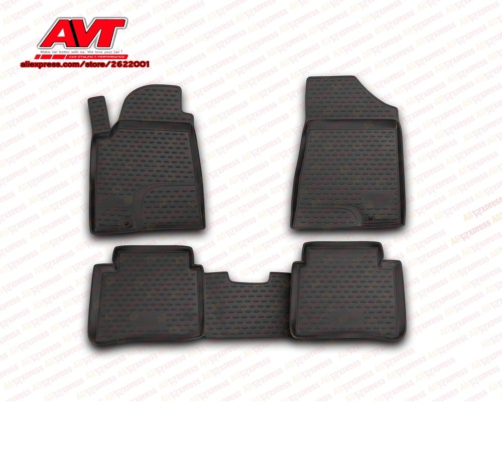 Maty podłogowe dla Nissan Teana II 2008 2014 4 sztuk gumowe dywaniki antypoślizgowe gumowe akcesoria do stylizacji wnętrza samochodu w Chromowane wykończenia od Samochody i motocykle na AVTuning Store