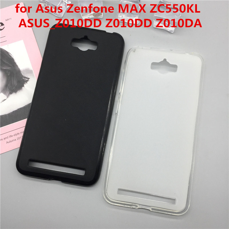 Case Soft Silicon Phone Para for <font><b>Asus</b></font> <font><b>Zenfone</b></font> MAX ZC550KL <font><b>ASUS</b></font>_<font><b>Z010DD</b></font> <font><b>Z010DD</b></font> Z010DA Luxury TPU Protector cover Shell Black Cases image