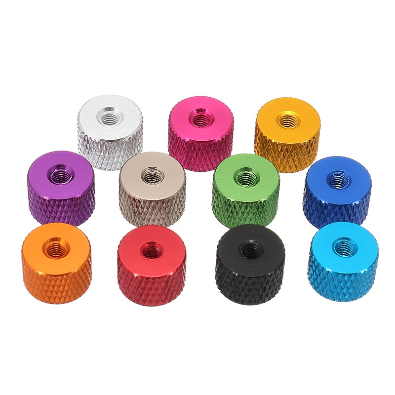10Pcs/Set M3AN5 M3 Aluminum alloy Thread Grommet Gasket Washer Spacer for FPV RC Multi-color Grey blue Black Red Purple Gold