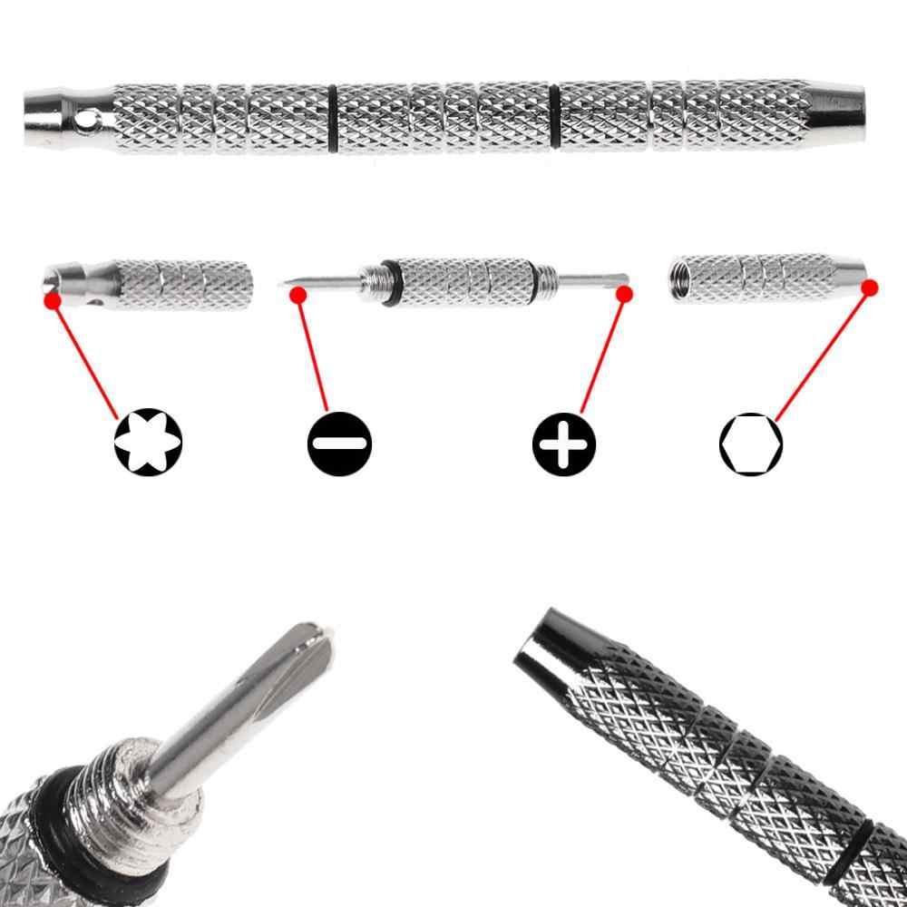 4 in 1 Cacciavite Vetri Da Orologio Strumenti di Riparazione di Alluminio Acciaio Inox Portatile Mini Kit