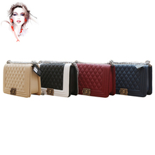 Fashion Lady's Handbag Cross Body One Shoulder Women Leboy Diamond Plaid Handbag 67086