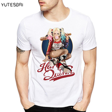 DC comic hot movie suicide squad T Shirt Joker Funny Harley Quinn T-shirt Hip Hop Pop Men Women Tshirt Style Fashion Tees