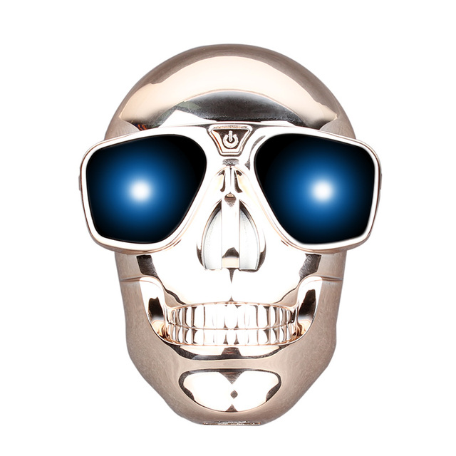 Real 4400mAh Power Bank Skull Heads Style External Mobile Backup for iPhone iPad mobile Phone