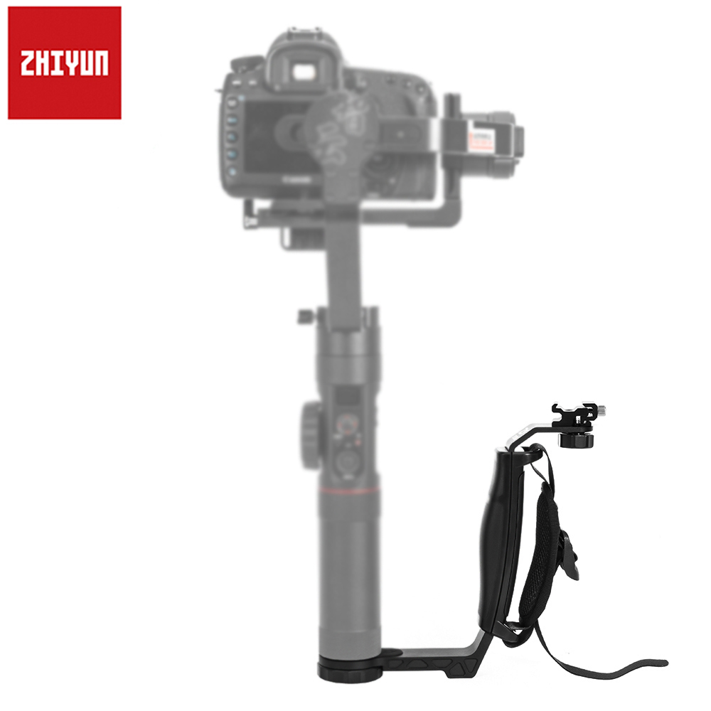Zhiyun Crane/Crane 2 L bracket Grip Handle with Cold Shoe for Monitor Microphone Light which has 1/4 Connector Port Dual Holder