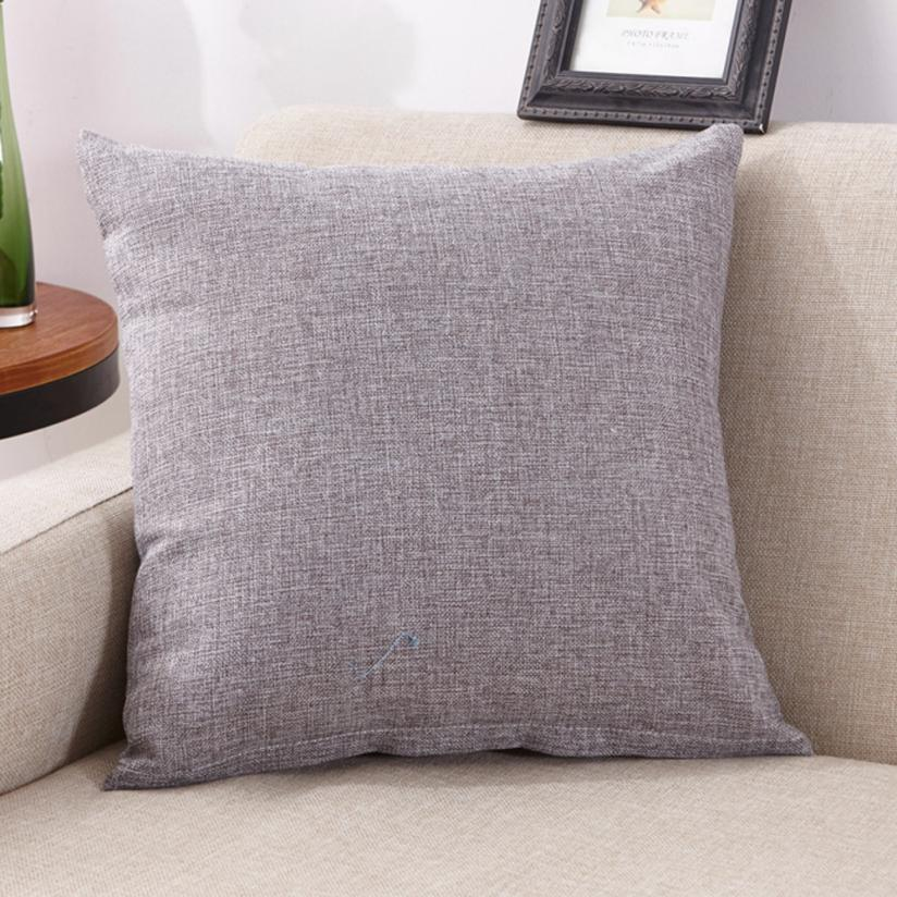 Pillow Case Solid Simple Fashion Throw Pillowcase 40*40cm Living room Cafe Home Textile Pillow Cover feb20